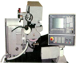 Gear-grinding machine with Siemens CNC for machining of the involute profile of gear-wheel cutters, shavers and measuring wheel.(Model MSH350C, MSH500C, MSH504C). Press for display of the increased photo (38 kb)